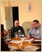 Photo taken during small group discussion time at 2007 Men's Conference when Ed taught in Poland.